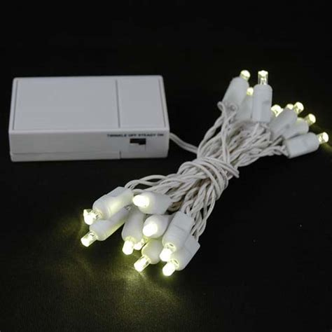 led lights white 20 led battery operated lights warm white on white wire