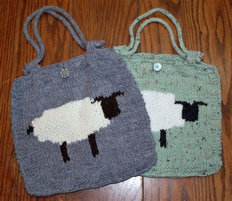 intarsia knit intarsia sheep bag by ravenswoodknit knitting pattern