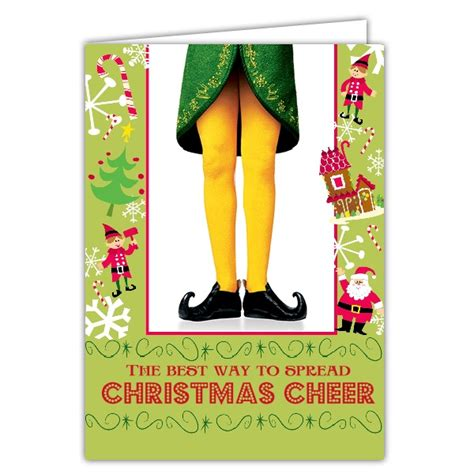 Naughty Bridal Shower Invitations by Christmas Cheer Buddy The Elf Christmas Cards Paperstyle