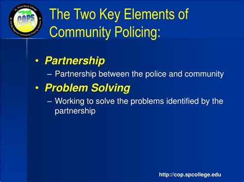 community policing partnerships for problem solving ppt community oriented policing problem solving