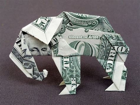 origami elephant dollar dollar bills origami and origami animals on