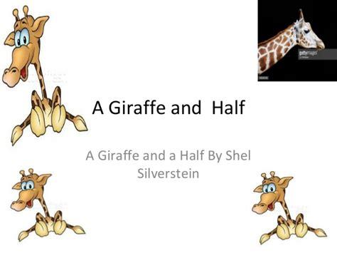a giraffe and a half a giraffe and half