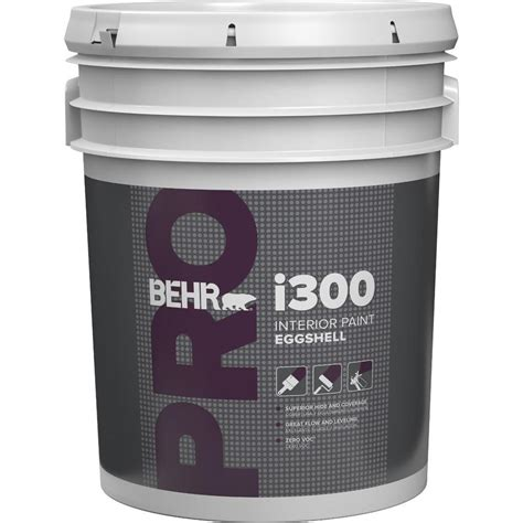 home depot 5 gallon interior paint behr pro 5 gal i300 white eggshell interior paint pr33005 the home depot