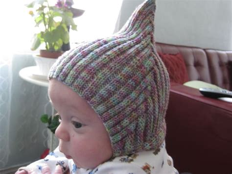 pixie hat knitting pattern free adorable pixie or gnome hat for baby free pattern