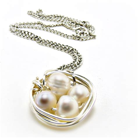 pearls jewelry bird nest neacklace freshwater pearl necklace bird nest