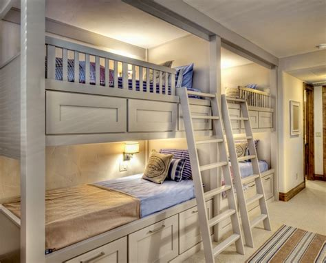 bunk beds ideas bright white bunk bed ideas wall lights white ladder