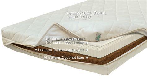 natura organic crib mattress crib futon
