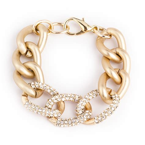chain links for jewelry gold pave chain link bracelet derng