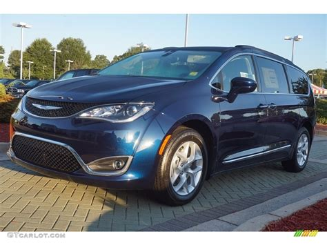 Blue Chrysler Pacifica 2017 jazz blue pearl chrysler pacifica touring l
