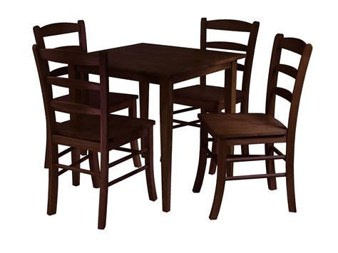 dining table with 4 chairs winsome groveland 5pc square dining table with 4 chairs by
