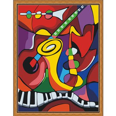 picasso paintings with musical instruments painting by numbers 30x40cm musical instruments