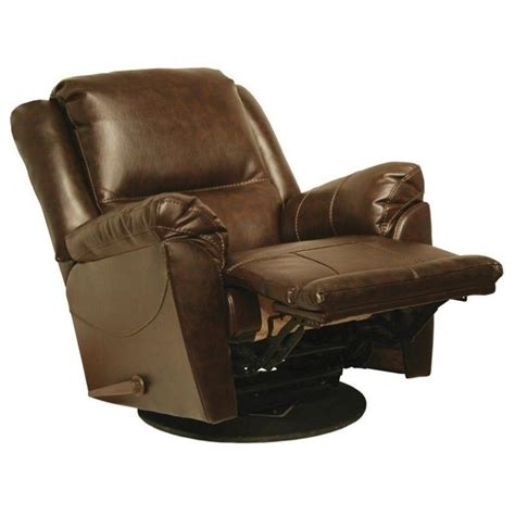 swivel leather recliner chair catnapper maverick leather swivel glider recliner chair in