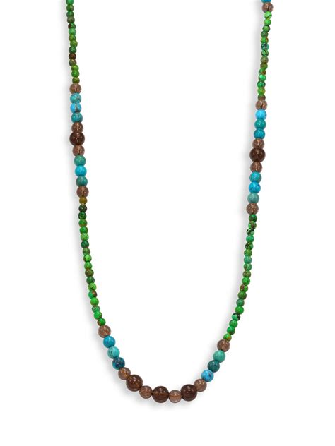turquoise beaded necklace kantis green turquoise howlite blue turquoise