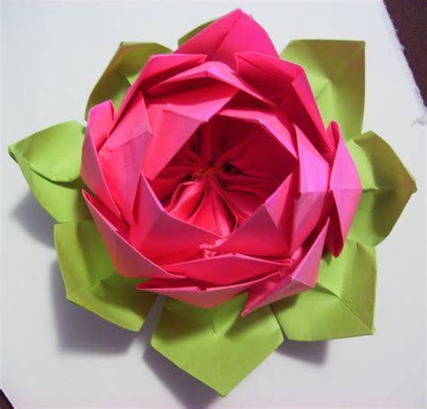 Origami Lotus Flower 171 Embroidery Origami