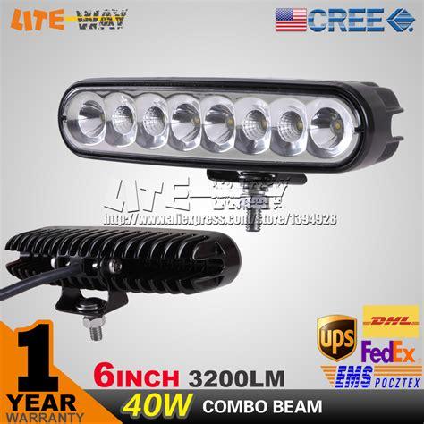 led backup light bar 40w 6inch 9 32v cree led work light mini 40w led light bar