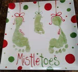mistletoe craft for crafts mistletoe footprint and on