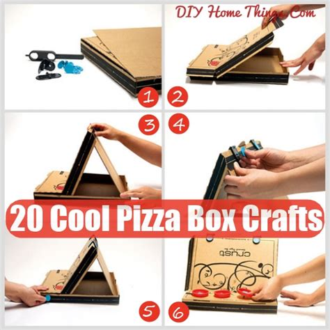 for to make at home 20 cool things you can make with a pizza box diy home things