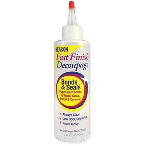 decoupage sealer fast finish decoupage sealer 8 ounces walmart
