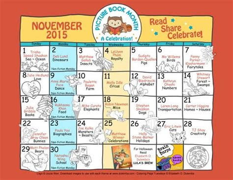 picture book month picture book month calendar