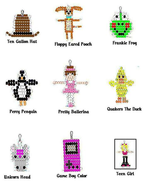 beaded keyring patterns pig pony bead patterns free website of facatail