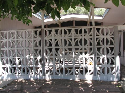 decorative concrete blocks for garden walls decorative concrete block designs are used on mid century