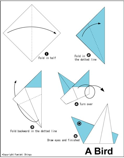 how to make a bird with origami origami a bird easy origami for