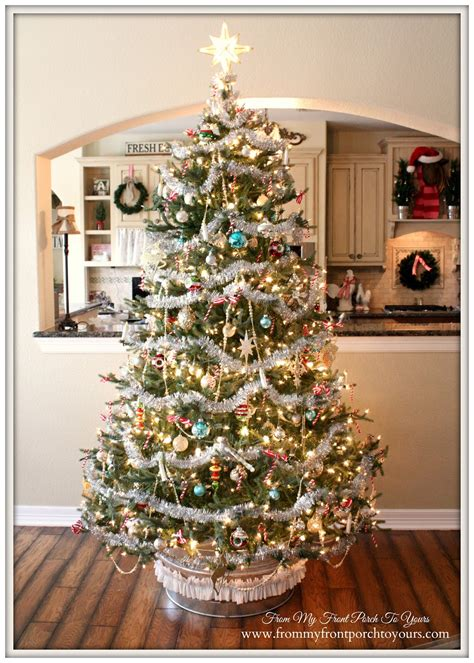 how to place garland on tree tree tinsel garlands happy holidays