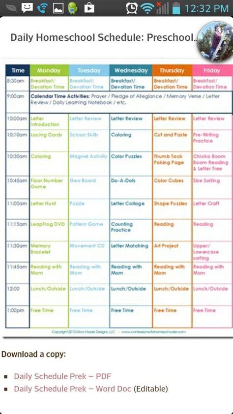 homeschool schedule homeschooling pinterest