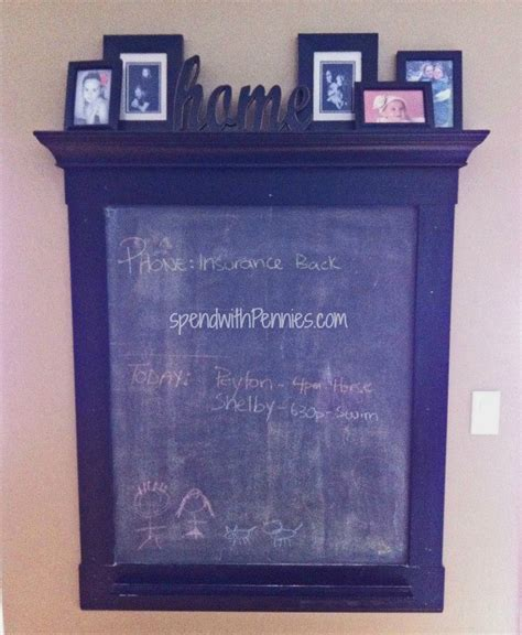 diy chalkboard wall frame magnetic chalkboard spend with pennies