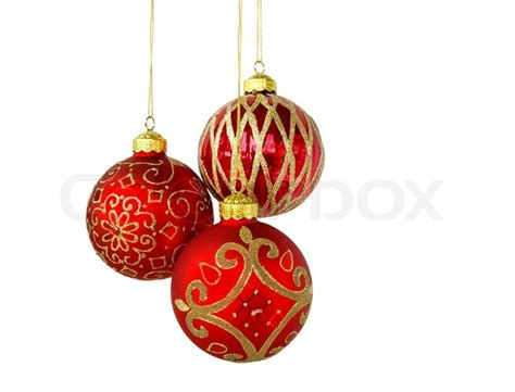 Lights For Home Decoration christmas tree ornaments hanging isolated on white