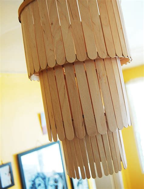 projects with craft sticks diy project popsicle stick chandelier design sponge