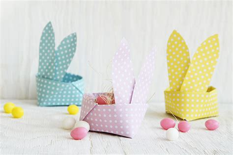origami easter bunny basket 31 diy easter baskets for your bunnies s