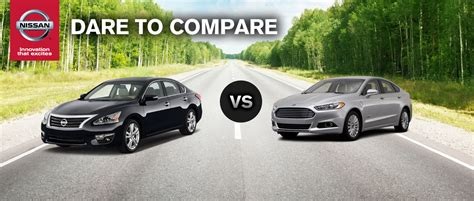 Nissan Altima Vs Ford Fusion by 2014 Nissan Altima Vs 2014 Ford Fusion