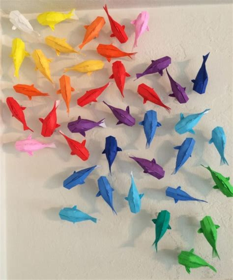 origami hanging decorations diy paper image 2830117 by ksenia l on favim