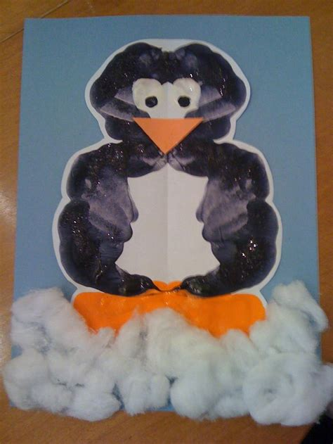 penguin craft projects penguin inkblot painting