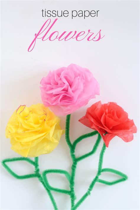 flower tissue paper craft diy tissue paper flowers