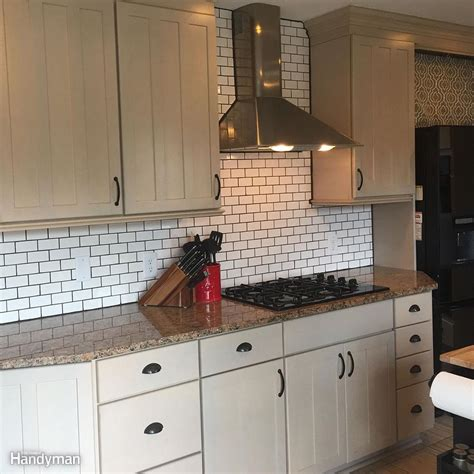 pictures of subway tile backsplashes in kitchen dos and don ts from a time diy subway tile backsplash install the family handyman