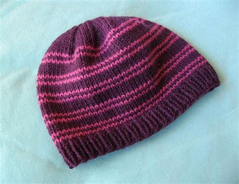 basic knit hat pattern basic knit hat free ravelry pattern yarny things
