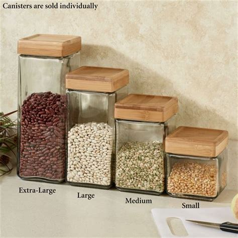 clear glass kitchen canisters macallister stackable glass kitchen canisters