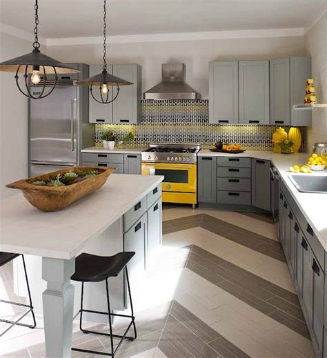 yellow and gray kitchen the granite gurus grey yellow kitchens