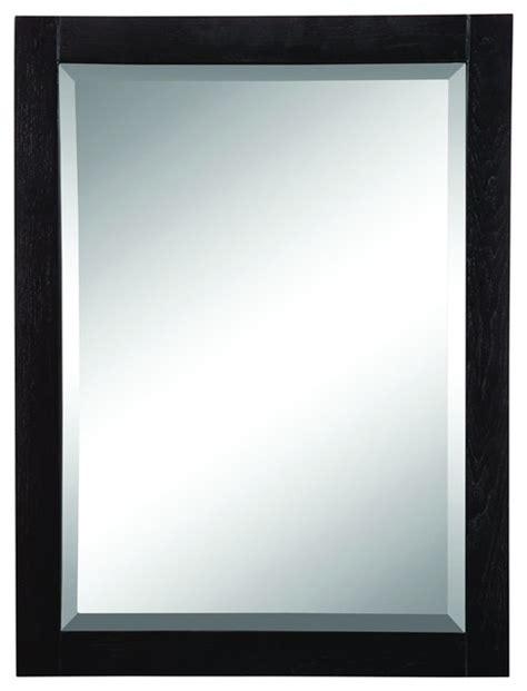 black bathroom mirror decolav 9719 bka wall mirror in black traditional