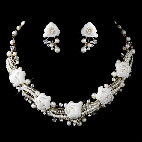 www jewelry pearl rhinestone swarovski flower jewelry sets