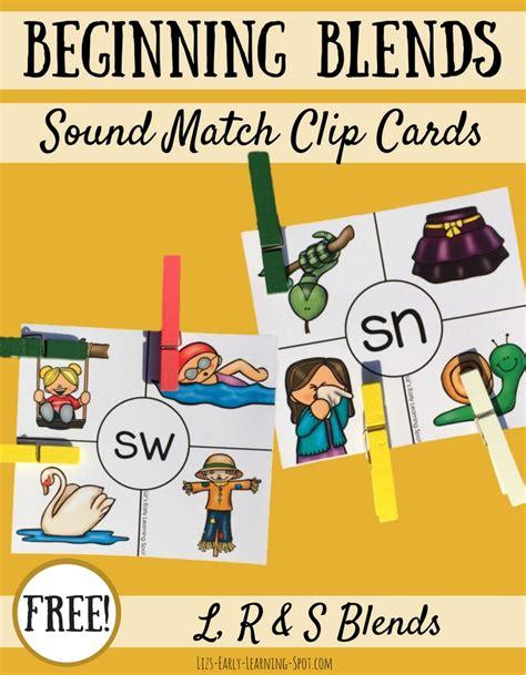 beginning card beginning consonant blends clip cards liz s early