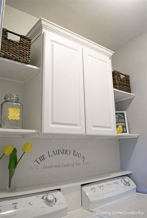 laundry room shelves and storage budget laundry room makeover reveal craving some creativity