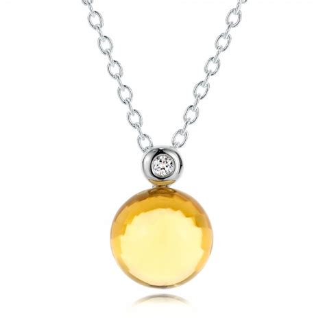 cabochon jewelry citrine cabochon and pendant 100445