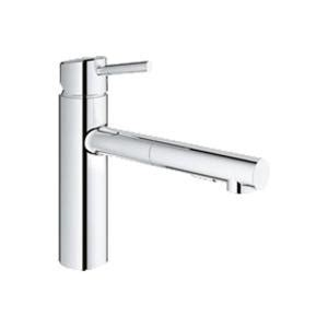 grohe concetto kitchen faucet grohe concetto single handle pull out sprayer kitchen faucet in starlight chrome 31453001 the