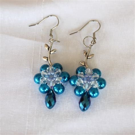 diy beaded earrings tutorial diy beaded leafy earrings tutorial
