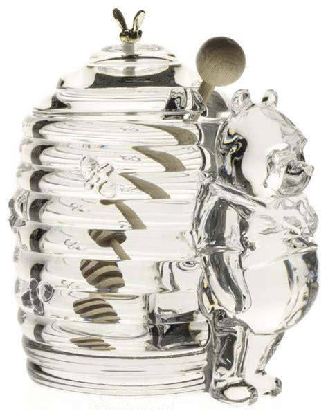 decorative glass honey jars pooh crystal honey jar contemporary decorative jars