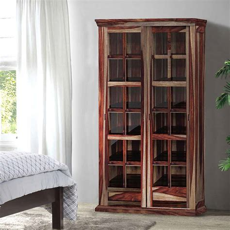 storage cabinets glass doors solid wood rustic glass door large storage cabinet