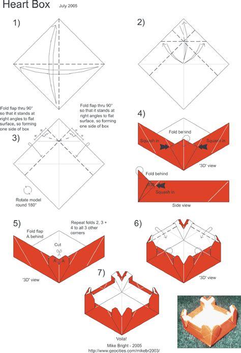 origami box diagram mikes origami